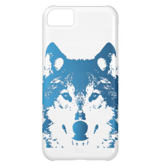 Illustration Ice Blue Wolf Case-Mate iPhone Case