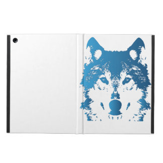 Illustration Ice Blue Wolf Cover For iPad Air