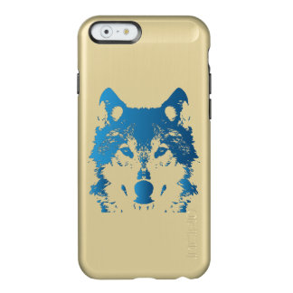 Illustration Ice Blue Wolf Incipio Feather® Shine iPhone 6 Case