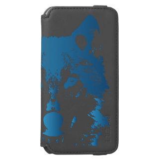 Illustration Ice Blue Wolf Incipio Watson™ iPhone 6 Wallet Case