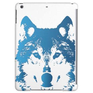 Illustration Ice Blue Wolf iPad Air Case