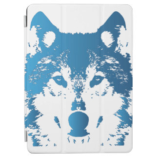 Illustration Ice Blue Wolf iPad Air Cover