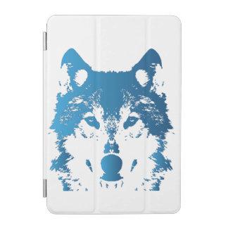 Illustration Ice Blue Wolf iPad Mini Cover