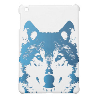 Illustration Ice Blue Wolf iPad Mini Cover
