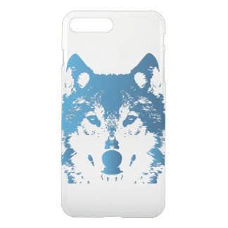 Illustration Ice Blue Wolf iPhone 8 Plus/7 Plus Case