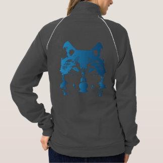 Illustration Ice Blue Wolf Jacket