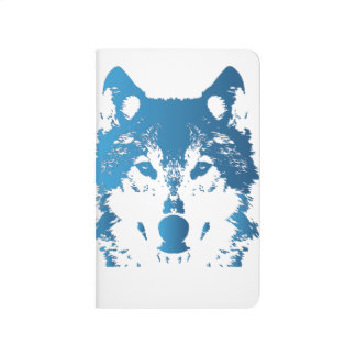 Illustration Ice Blue Wolf Journal