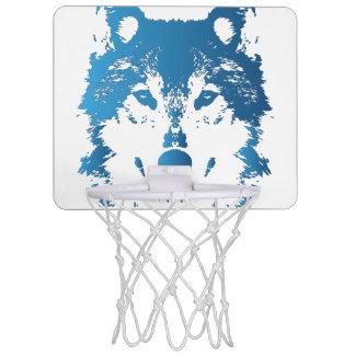 Illustration Ice Blue Wolf Mini Basketball Hoop