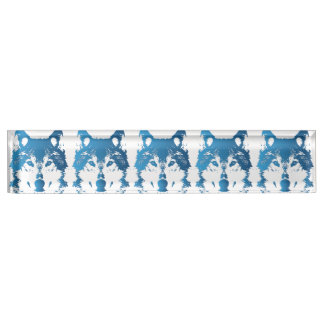 Illustration Ice Blue Wolf Name Plate
