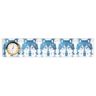 Illustration Ice Blue Wolf Nameplate