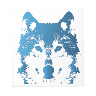 Illustration Ice Blue Wolf Notepad