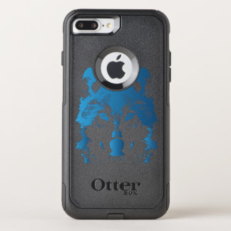 Illustration Ice Blue Wolf OtterBox Commuter iPhone 8 Plus/7 Plus Case