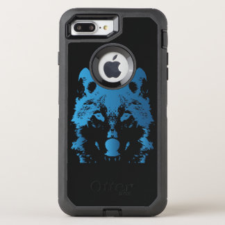 Illustration Ice Blue Wolf OtterBox Defender iPhone 8 Plus/7 Plus Case