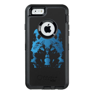 Illustration Ice Blue Wolf OtterBox Defender iPhone Case