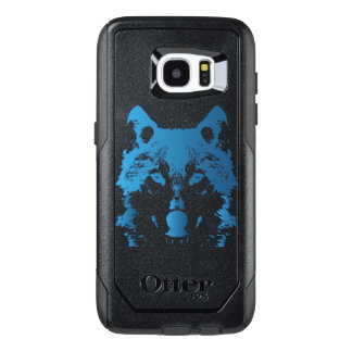 Illustration Ice Blue Wolf OtterBox Samsung Galaxy S7 Edge Case