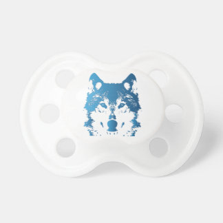 Illustration Ice Blue Wolf Pacifier