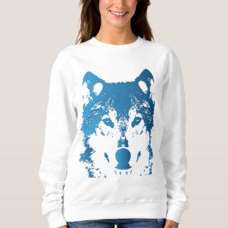 Illustration Ice Blue Wolf Sweatshirt