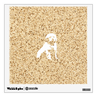 Illustration in granite pattern wall sticker