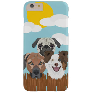 Illustration lucky dogs on a wooden fence barely there iPhone 6 plus case