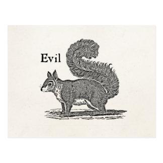 Illustration mauvaise d'écureuil de 1800s vintages cartes postales