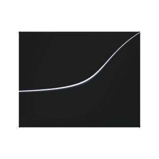 Illustration minimaliste abstraite de vue dans toile tendue sur châssis