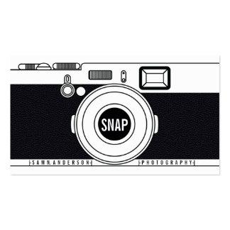 Illustration noire moderne d'appareil-photo frais carte de visite standard