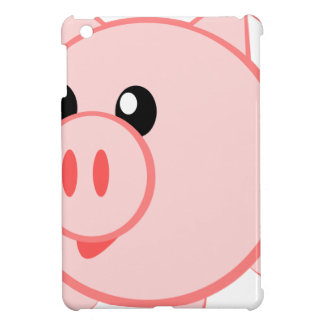 Illustration Of A Cartoon Pig Case For The iPad Mini