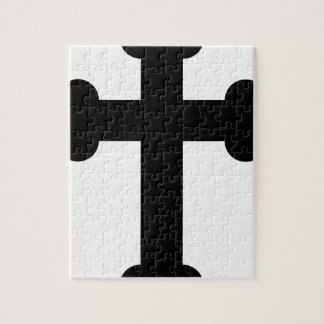 Illustration Of A Cross Jigsaw Puzzle
