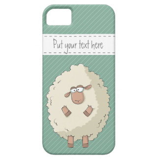 Illustration of a cute and funny giant sheep case for the iPhone 5