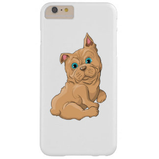 Illustration of a cute dog French Bulldog Barely There iPhone 6 Plus Case