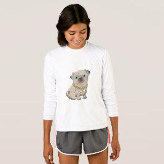 Illustration of a cute dog pug T-Shirt