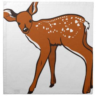 Illustration Of A Deer Napkin