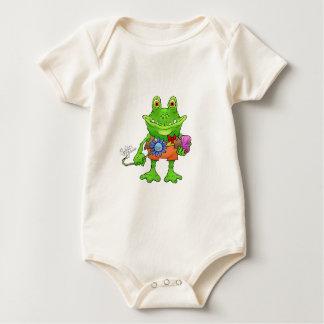 Illustration of a frog. baby bodysuit