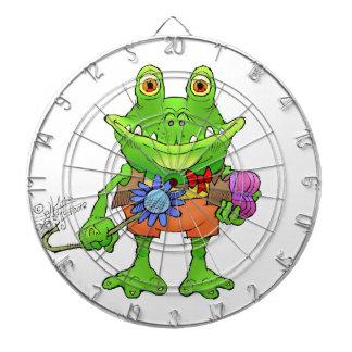 Illustration of a frog. dartboard