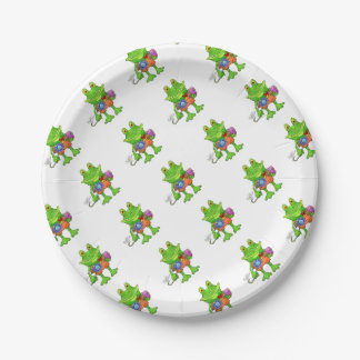 Illustration of a frog. paper plate