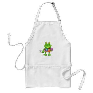 Illustration of a frog. standard apron