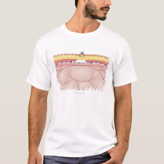 Illustration of a Hernia T-Shirt