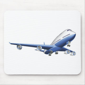 Illustration of a large passenger plane mouse pad