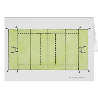 Illustration of a rugby pitch card