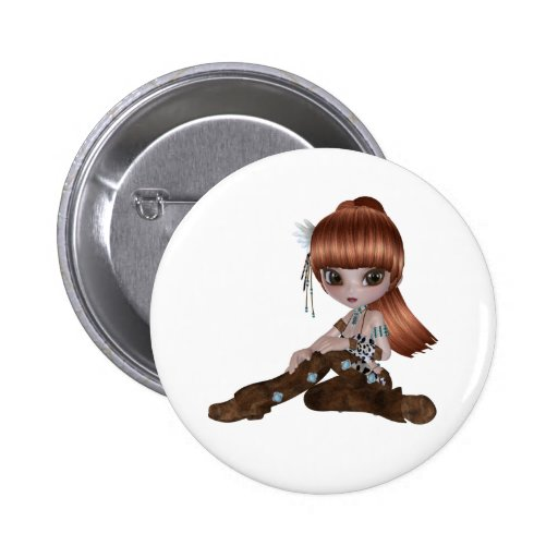 Illustration of a sweet little girl pins