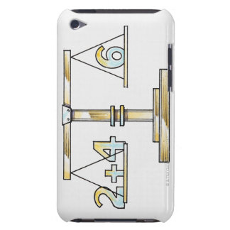 Illustration of adding numbers on scales Case-Mate iPod touch case