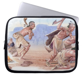 Illustration of American Indians attacking Laptop Sleeve