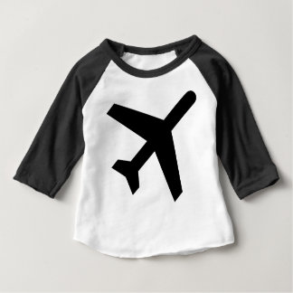 Illustration Of An Airplane Silhouette Baby T-Shirt