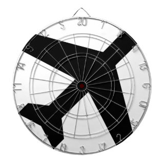 Illustration Of An Airplane Silhouette Dartboard
