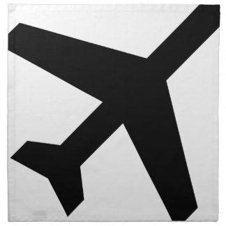 Illustration Of An Airplane Silhouette Napkin