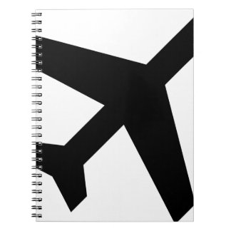 Illustration Of An Airplane Silhouette Notebooks