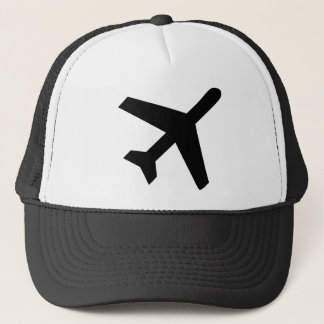 Illustration Of An Airplane Silhouette Trucker Hat