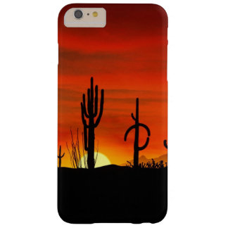 Illustration of cactus tree when the sunset barely there iPhone 6 plus case