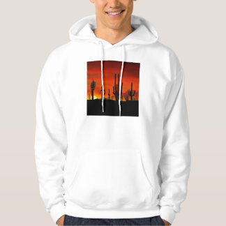Illustration of cactus tree when the sunset hoodie