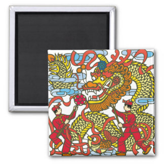 Illustration of Chinese dragon in Chinese New Square Magnet